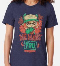 Camiseta de tejido mixto We Want You!