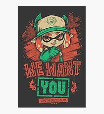 Wir wollen dich! Fotodruck