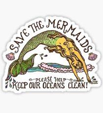save the mermaids :) Sticker