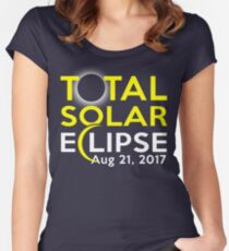 Total Solar Eclipse August 21 2017 Shirt Women's Fitted Scoop T-Shirt