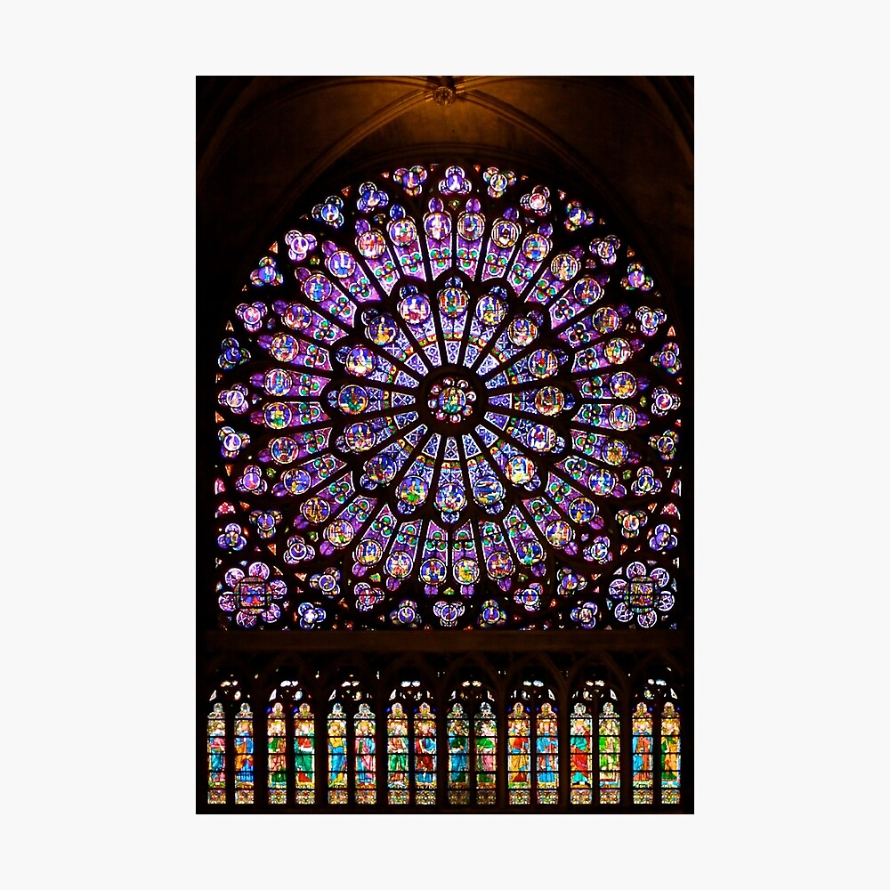 The North Rose window of Notre Dame Photographic Print