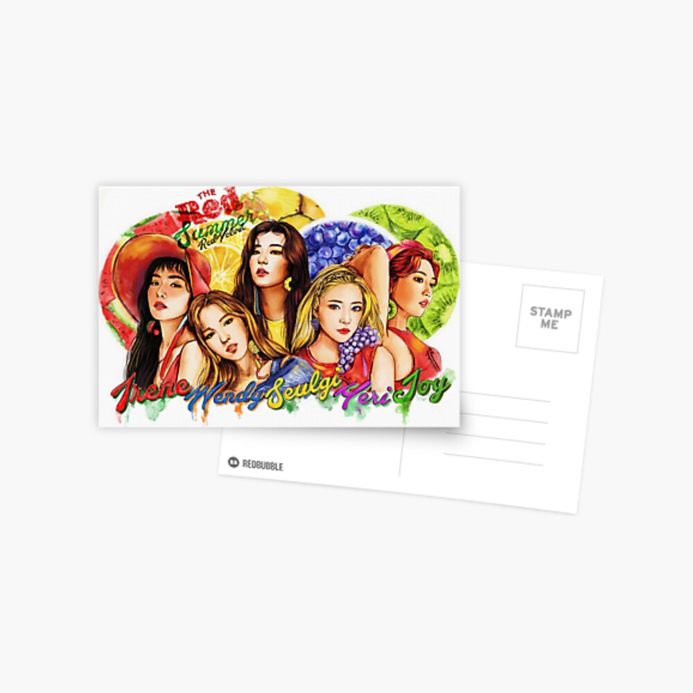 """Roter Samt """"Roter Sommer"""" Postkarte"""