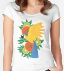 Tropical parrot Women's Fitted Scoop T-Shirt