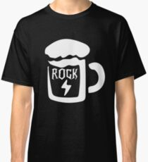 Rock and Roll Rock On and beer me Classic T-Shirt