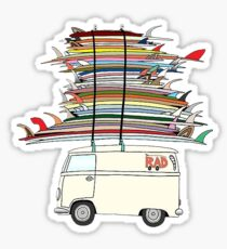 rad surf van Sticker
