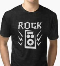 Rock and Roll Rock On Tri-blend T-Shirt