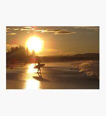 Byron Bay Sunset Surf Australia Photographic Print