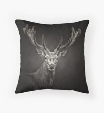 Deer Stag's Head Throw Pillow
