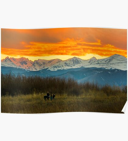 Sunset Walk And The Continental Divide Poster
