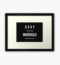 Rory 'The Red King' MacDonald Framed Print