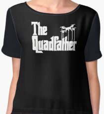 The Quadfather Funny Drone Quadcopter Father's Day T-Shirt Women's Chiffon Top