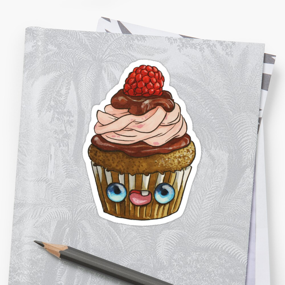 Quot Cupcake Kawaii Quot Sticker By 365bocetos Redbubble