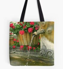 Water and flowers Tote Bag