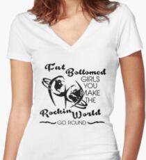 Fat Bottomed Girls - Queen Women's Fitted V-Neck T-Shirt