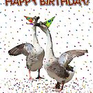 Confetti and Streamers Celebrating Geese  by Gravityx9