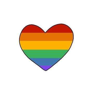 Ilustración del corazón del arco iris de bloemsgallery