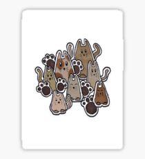 A Clowder of Cats Sticker