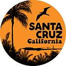 Surfing Santa Cruz California Surf Beach Ocean Palm 3 by MyHandmadeSigns