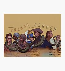 Snakes in the Garden Photographic Print