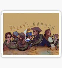 Snakes in the Garden Sticker
