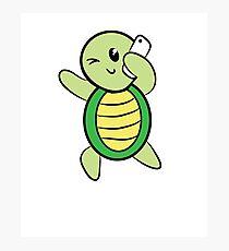 Shellfie - Adorable Turtle  Photographic Print