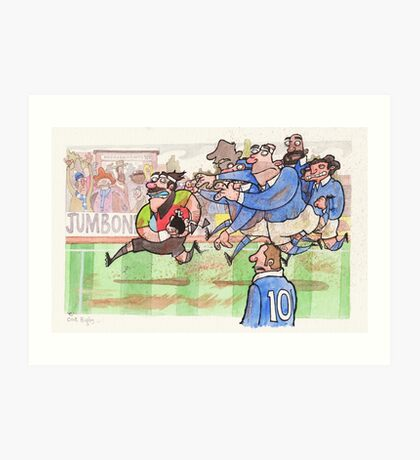 Coot Rugby Art Print