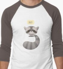 Vector Raccoon Men's Baseball ¾ T-Shirt