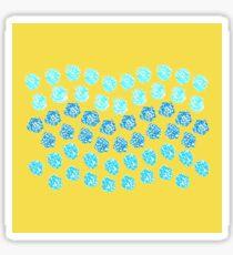 Blue Waves on Yellow Sticker