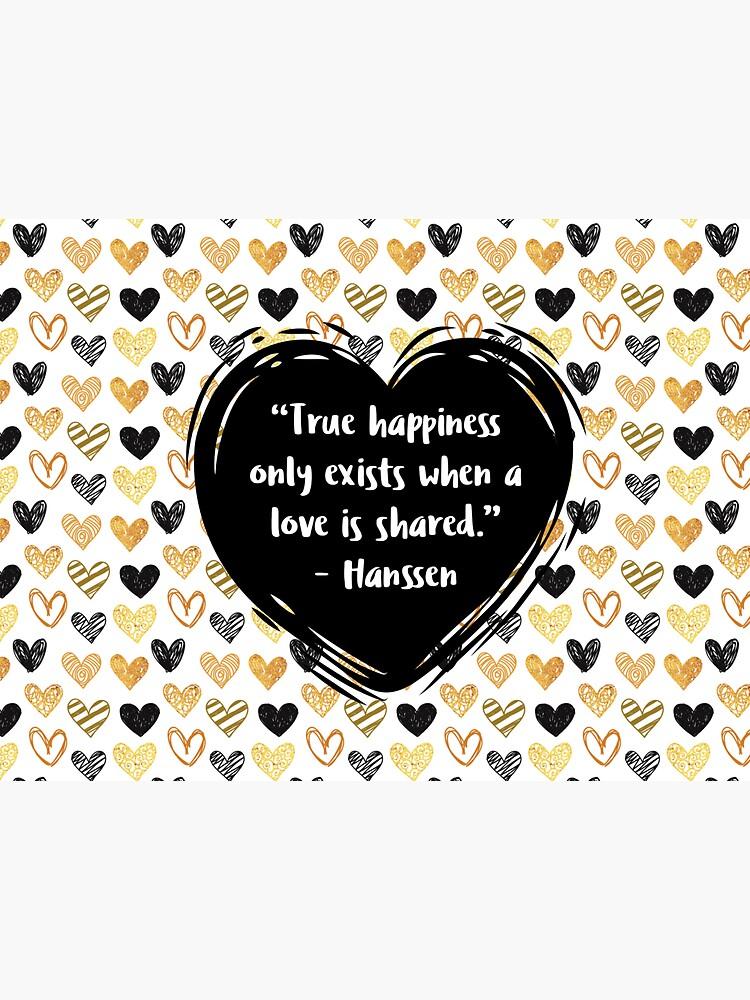 Henrik Hanssen Liebes-Zitat von holbytv