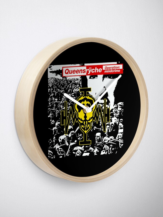 Alternate view of Queensryche Operation Mindcrime Album Cover Clock