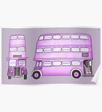 Big Purple Bus Poster