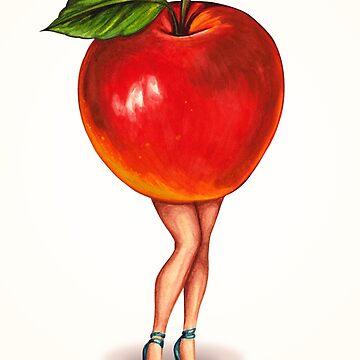 Fruit Stand - Apple Girl by KellyGilleran