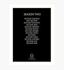 Continuum - Season Two Episodes Art Print