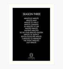 Continuum - Season Three Episodes Art Print