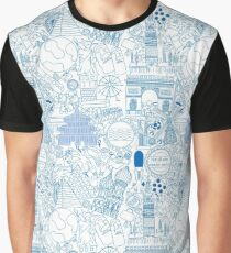 Worldly Blue Graphic T-Shirt