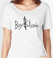 """Buy Bitcoin"" Cryptocurrency Shirt Women's Relaxed Fit T-Shirt"