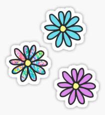 Flower 3-Pack Stickers Sticker