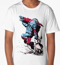 Red Blue retro Biologic shock Long T-Shirt