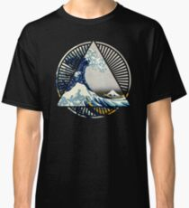 Hokusai - 36 Views Of Mount Fuji - Great Wave Off Kanagawa Geometric Triangle Shirt Classic T-Shirt