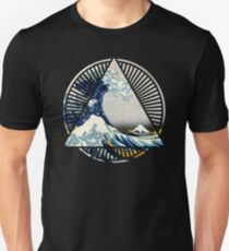 Hokusai - 36 Views Of Mount Fuji - Great Wave Off Kanagawa Geometric Triangle Shirt T-Shirt