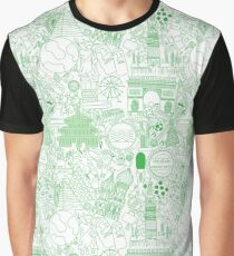 Worldly Green Graphic T-Shirt