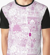 Worldly Purple Graphic T-Shirt