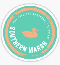 SOUTHERN MARSH Sticker - Turquoise & Peach Sticker