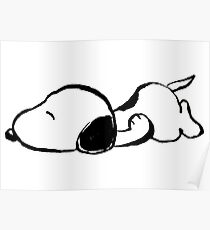 Snoopy sleeping Poster