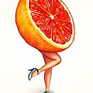 Fruit Stand - Grapefruit Girl by Kelly  Gilleran
