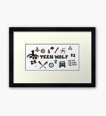 Teen Wolf icons Framed Print
