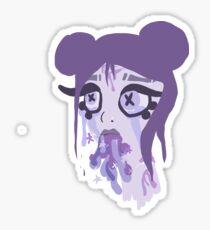 pastel puke girl Sticker