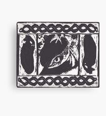 Toothless Woodblock Print Canvas Print