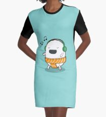 Sushi Tunes Graphic T-Shirt Dress