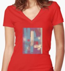 Friday is here Women's Fitted V-Neck T-Shirt